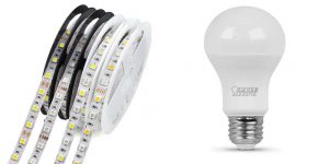 LED strip lights and a LED bulb