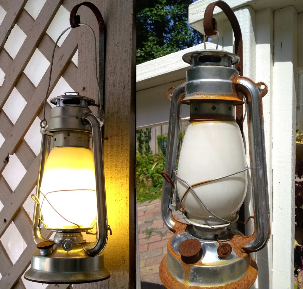 Two LED Oil Lamp Conversions