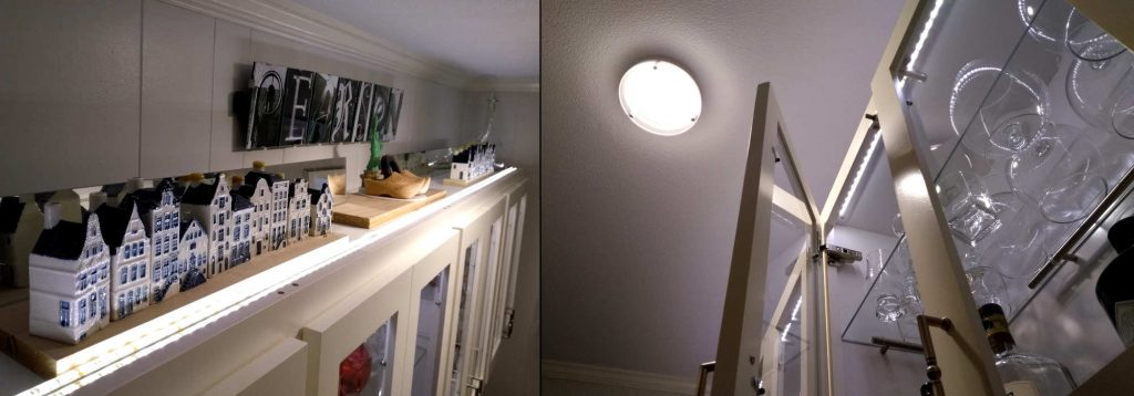 Lighted Cabinet top and inside
